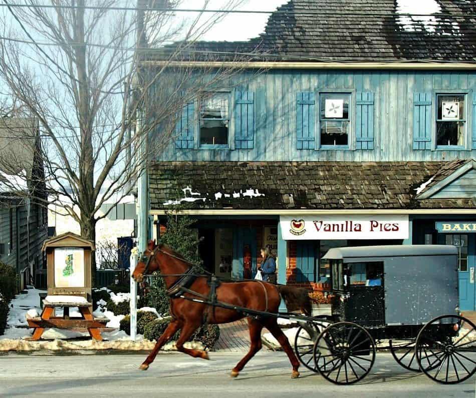 Intercourse USA Amish Buggy Pennsylvania