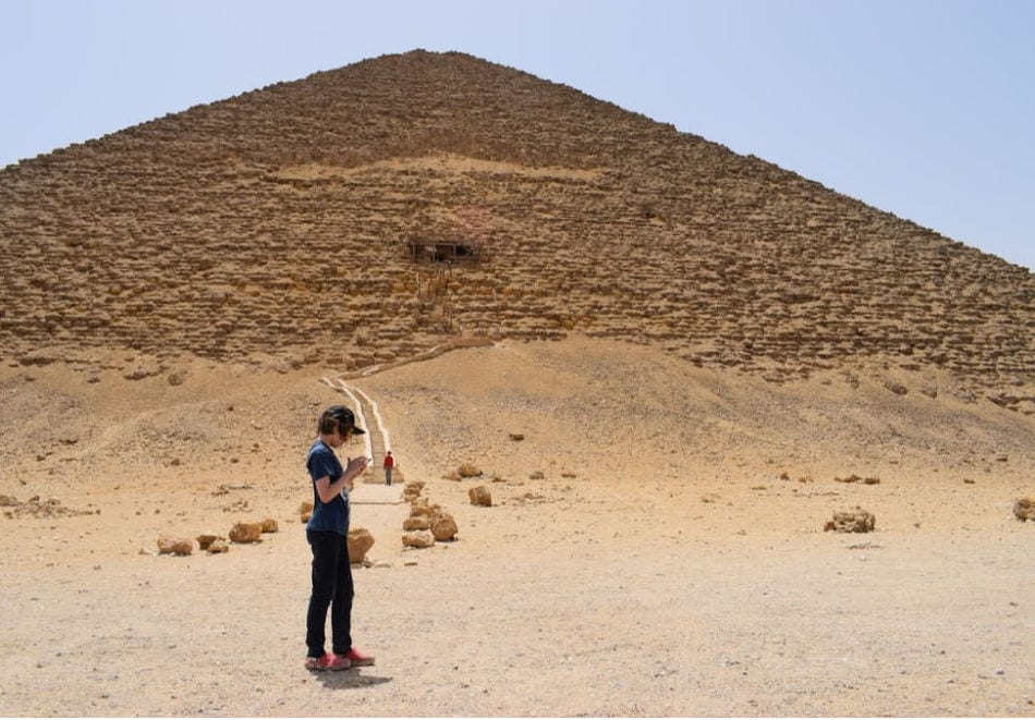 Pyramids in Egypt visiting on a family gap year