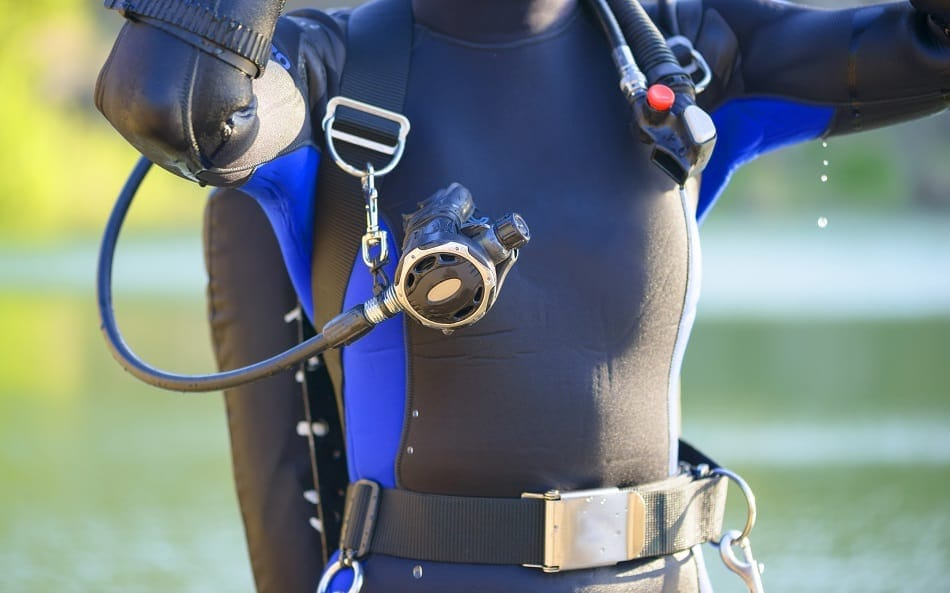Diver with Second Stage Regulator