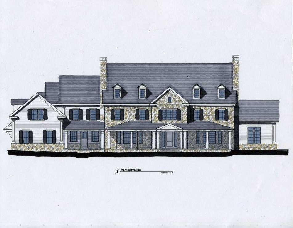 architect drawings for construction greenwich ct home