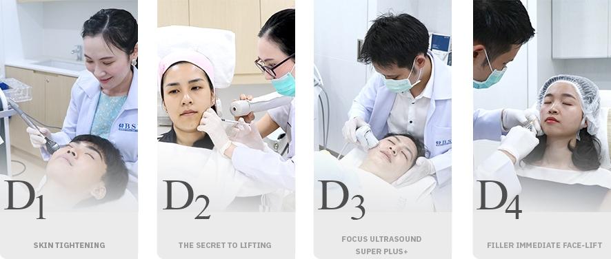 D1 to D4 face lift ยกกระชับใบหน้า โดยไม่ต้องผ่าตัด
