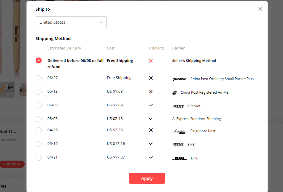 how does aliexpress shipping work