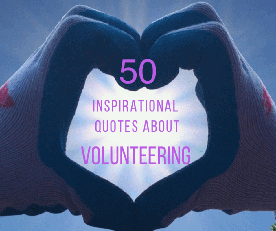 inspirational quotes about volunteering giving back