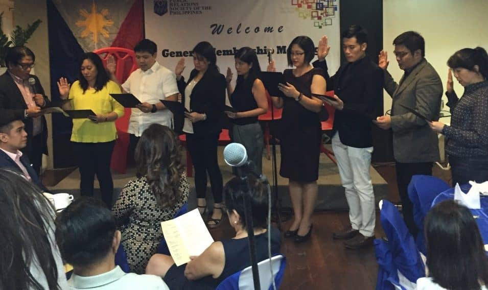 Doris Mongaya inducted as member Public Relations Society of the Philippines PRSP