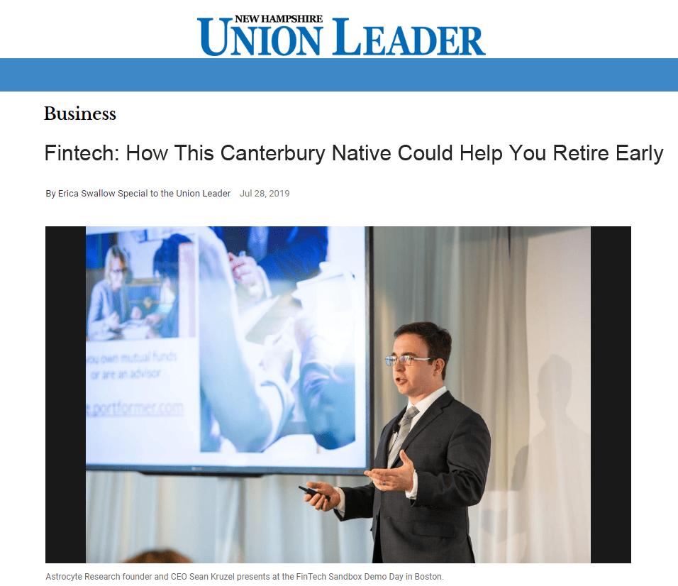 Portformer Union Leader Article