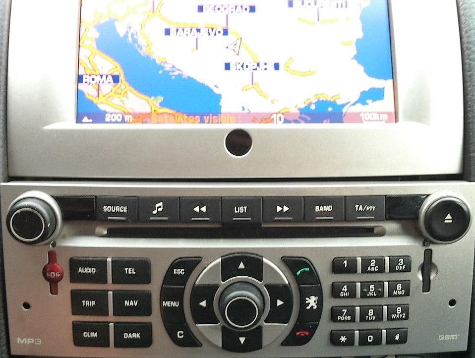Mapa Srbije za Citroen i Peugeot fabričke navigacije RT4-5