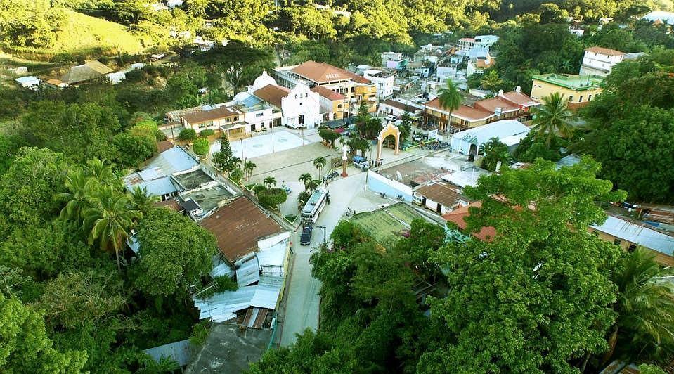 Vista aérea de Santa Cruz El Chol