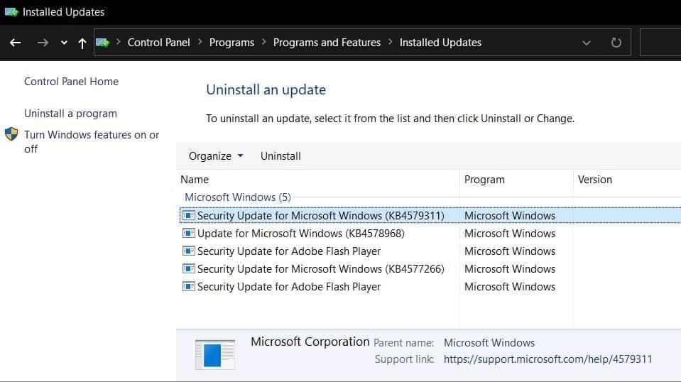 latest update windows