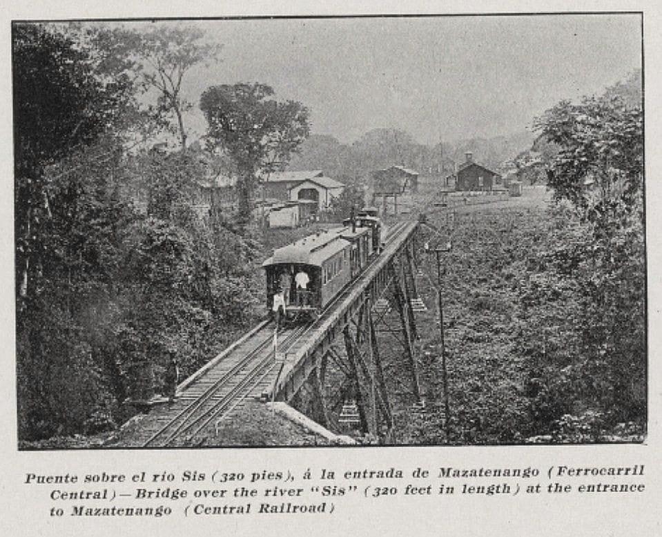 Ferrocarril sobre el río Sis