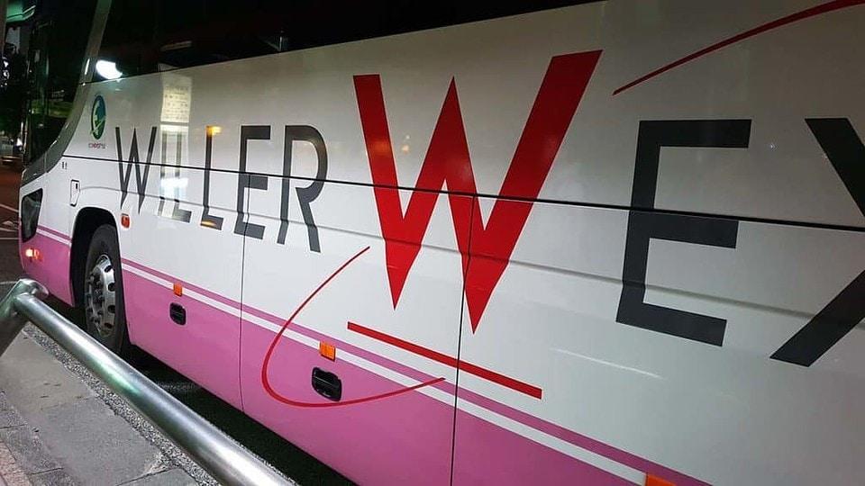naik bus willer express ke osaka