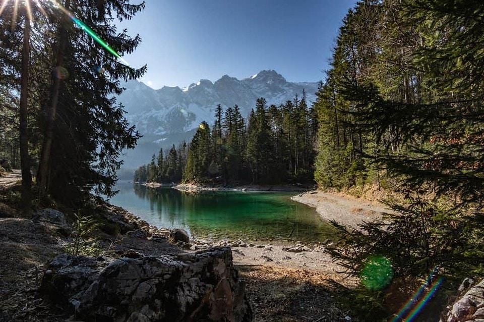 Der Eibsee - einer der schönsten Badeseen Deutschlands