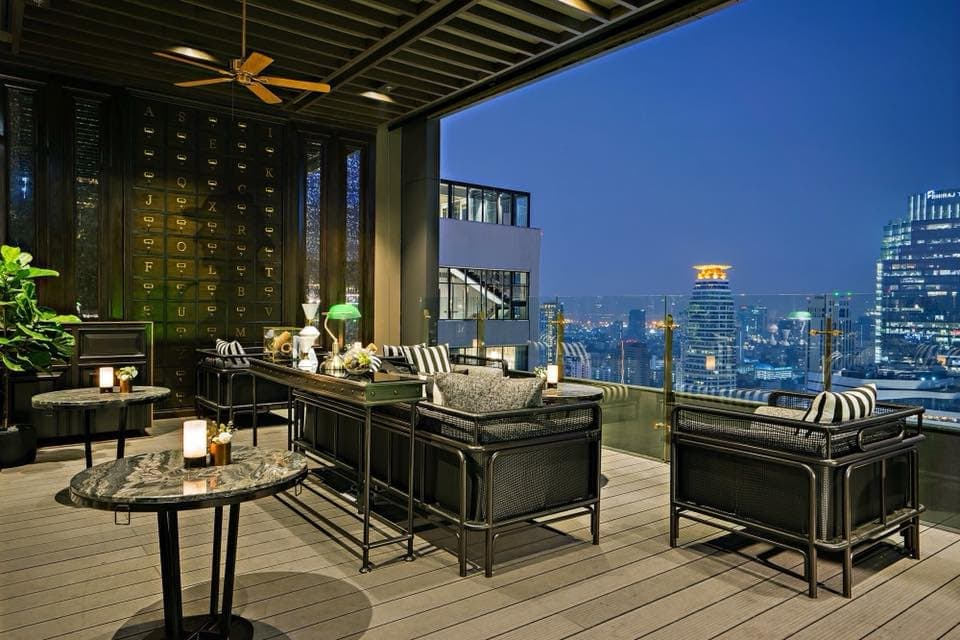 Bangkok rooftop bar overlooks Queen's Park