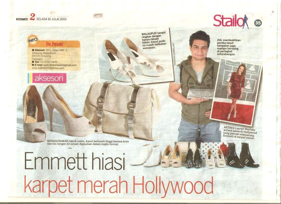 STAILO ARTICLE – MALAYSIAN NEWSPAPER (Wearing Emmett Shoewear)