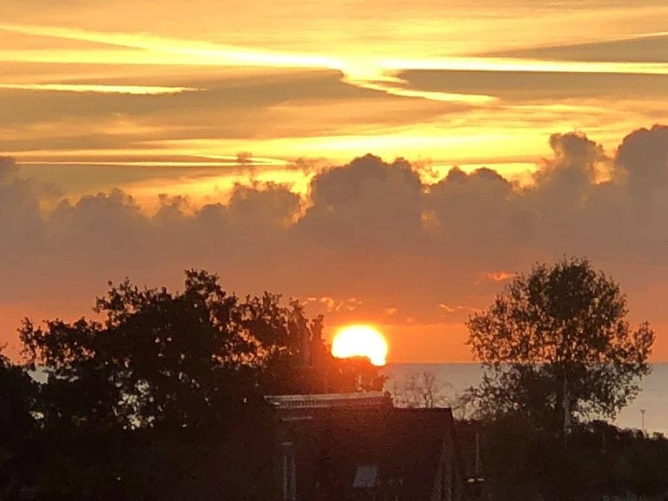 Sonnenaufgang Pelzerhaken an der Ostsee