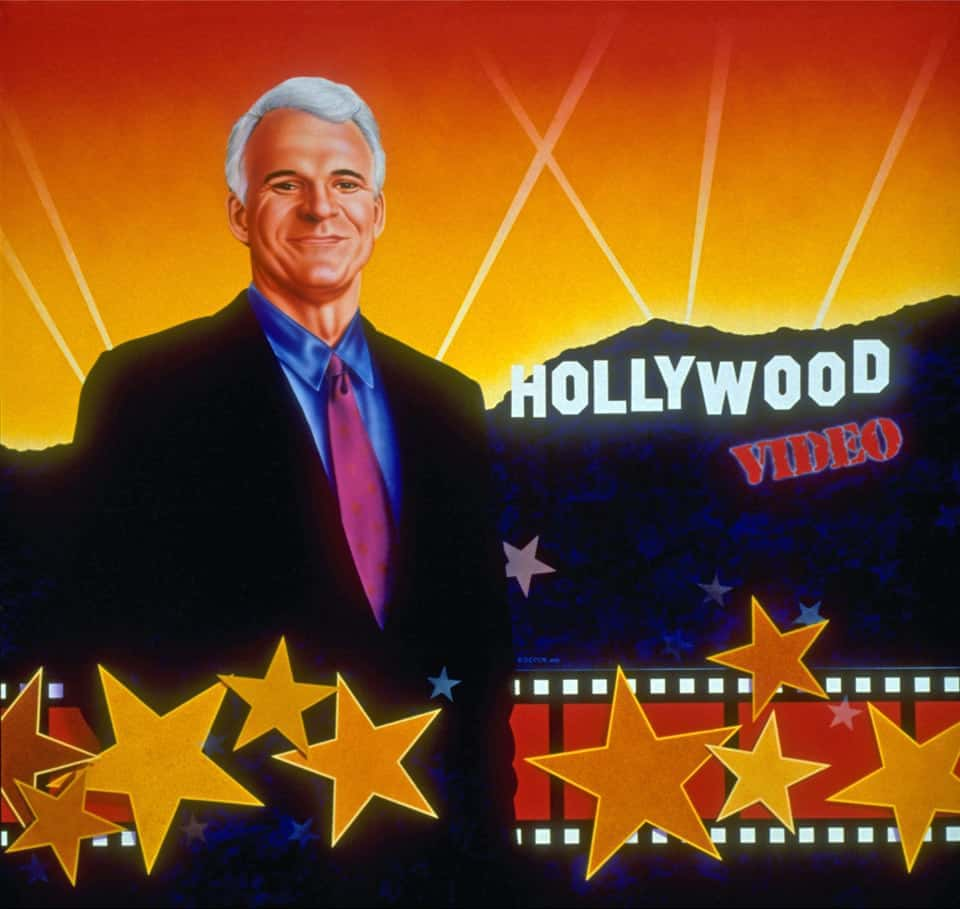 STARRING STEVE MARTIN wall mural by A.D. Cook for Hollywood Video