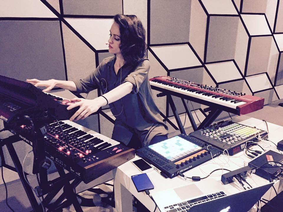 Claudio in the studio. via her Facebook