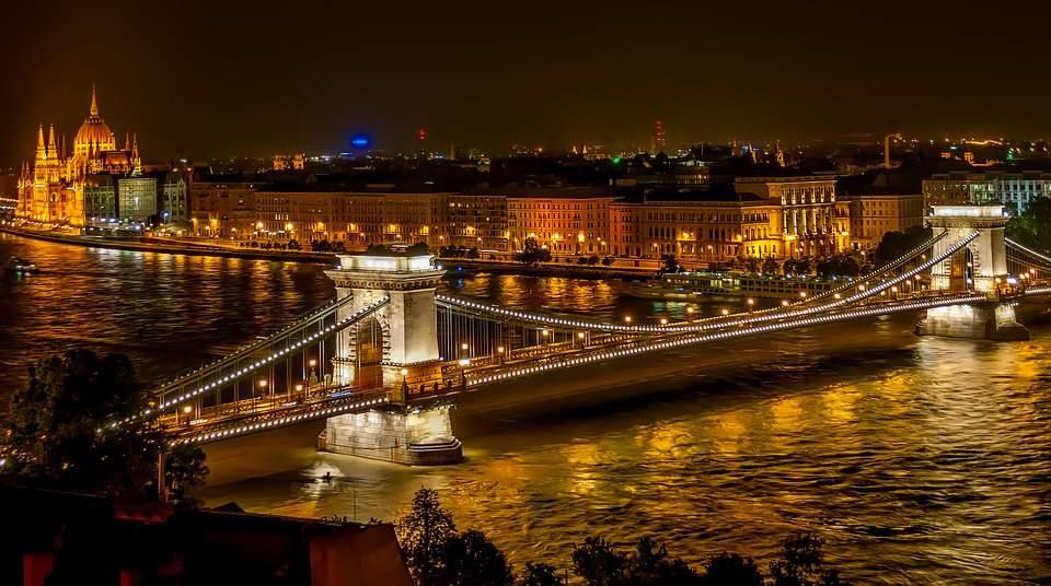 szechenyi chain bridge budapest