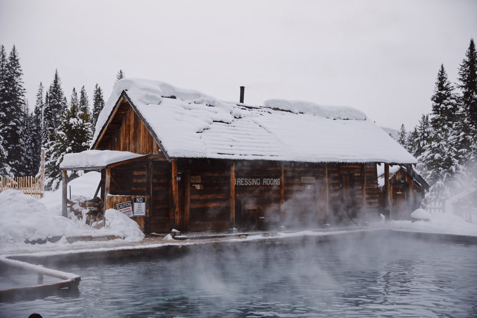 Snowmobile to Burgdorf Hot Springs