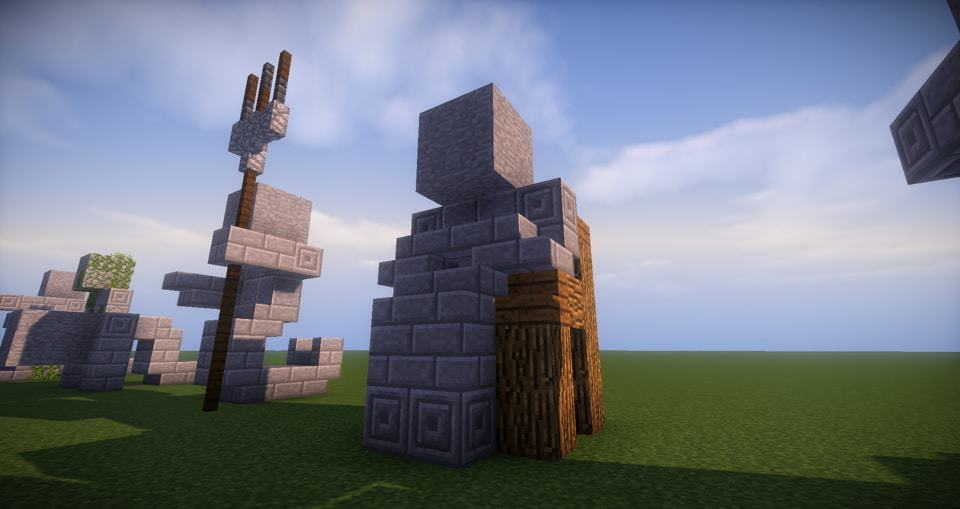 12 - Minecraft small statues for worlds easy to build