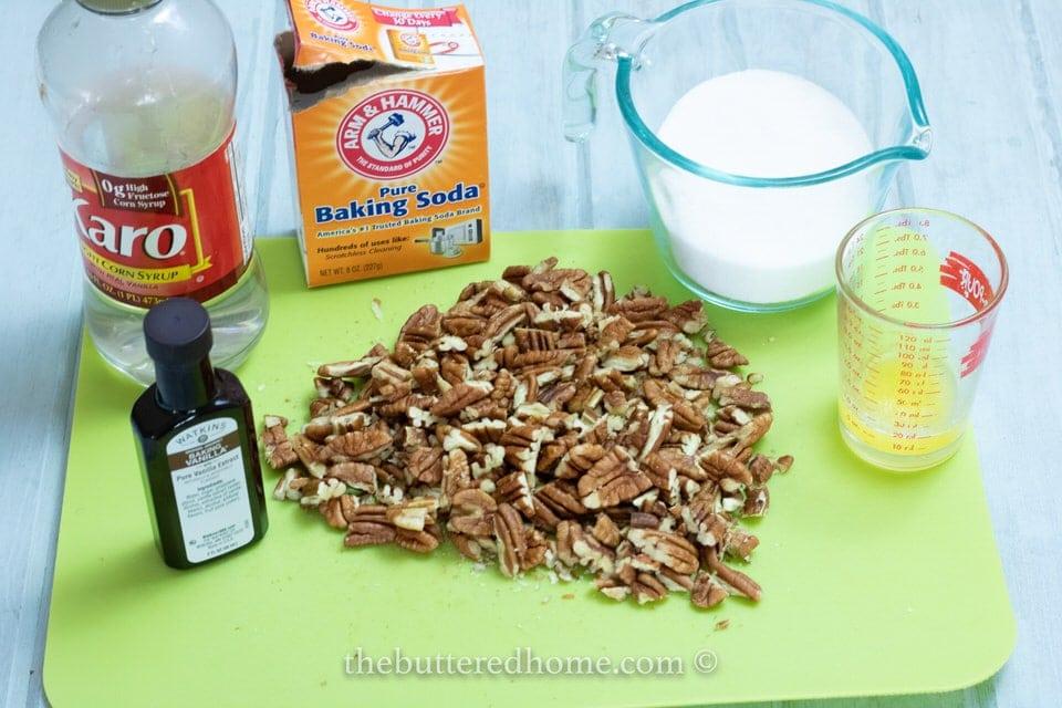 Pecan Brittle ingredients