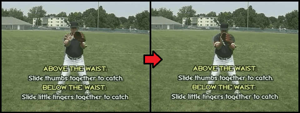 outfield baseball catching technique