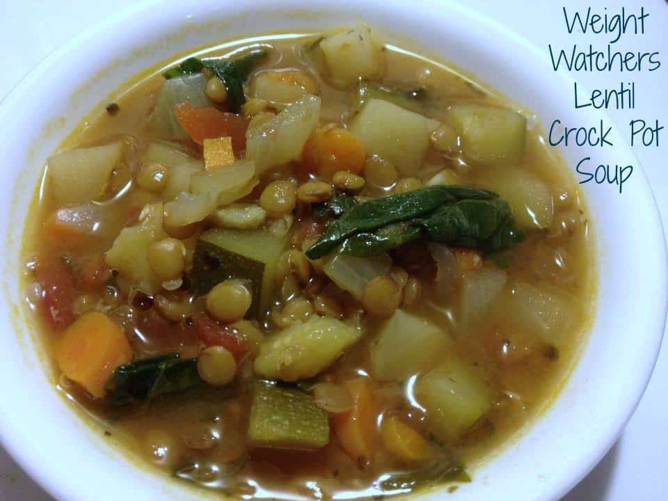 Weight watcher Crock Pot Vegetable Lentil Soup