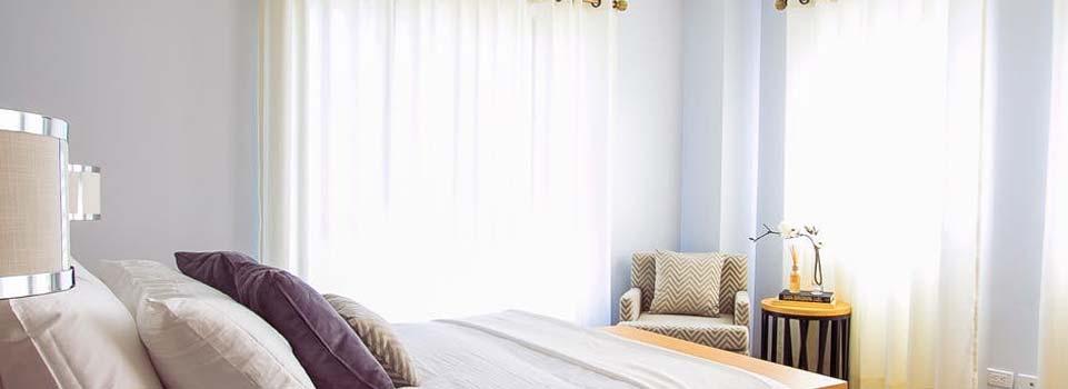 Vitrage in de slaapkamer