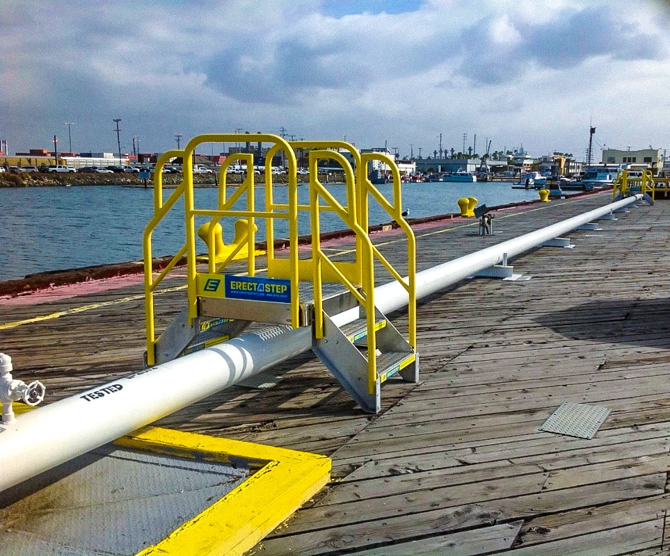 Marine Dock 2 step pipe crossover