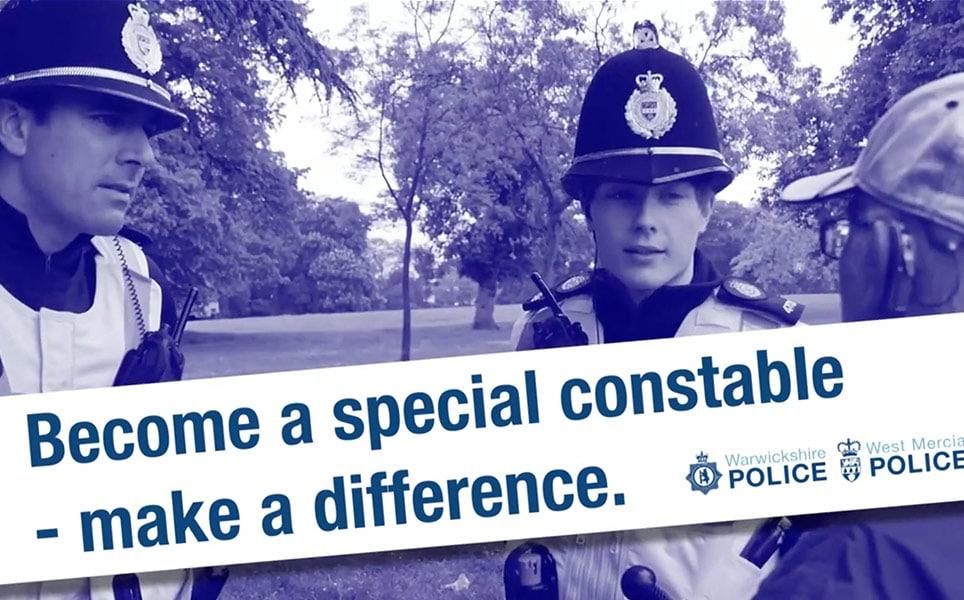 Still from Warwickshire Police video