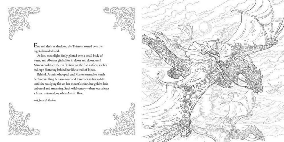 The Throne of Glass Coloring Book by Sarah J Maas Book Review