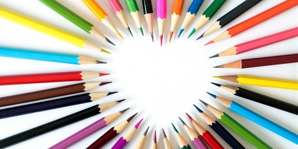 A close up of pencils