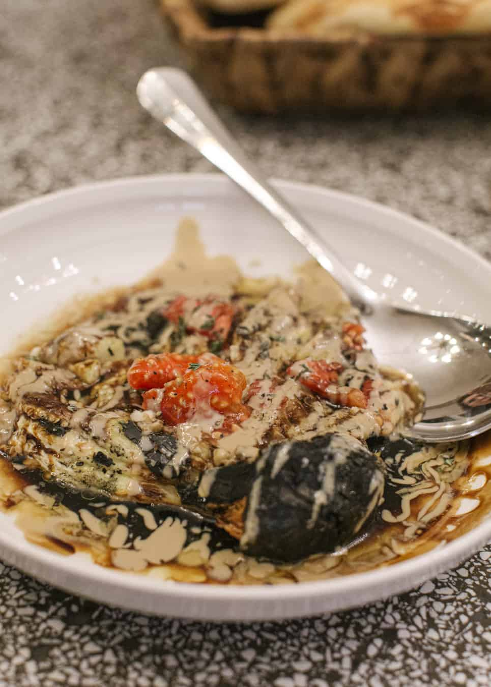 eggplant with tahini