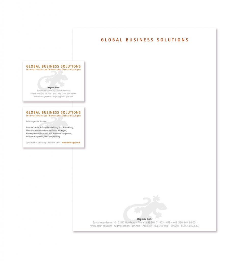 GBS Briefbogen und Visitenkarte