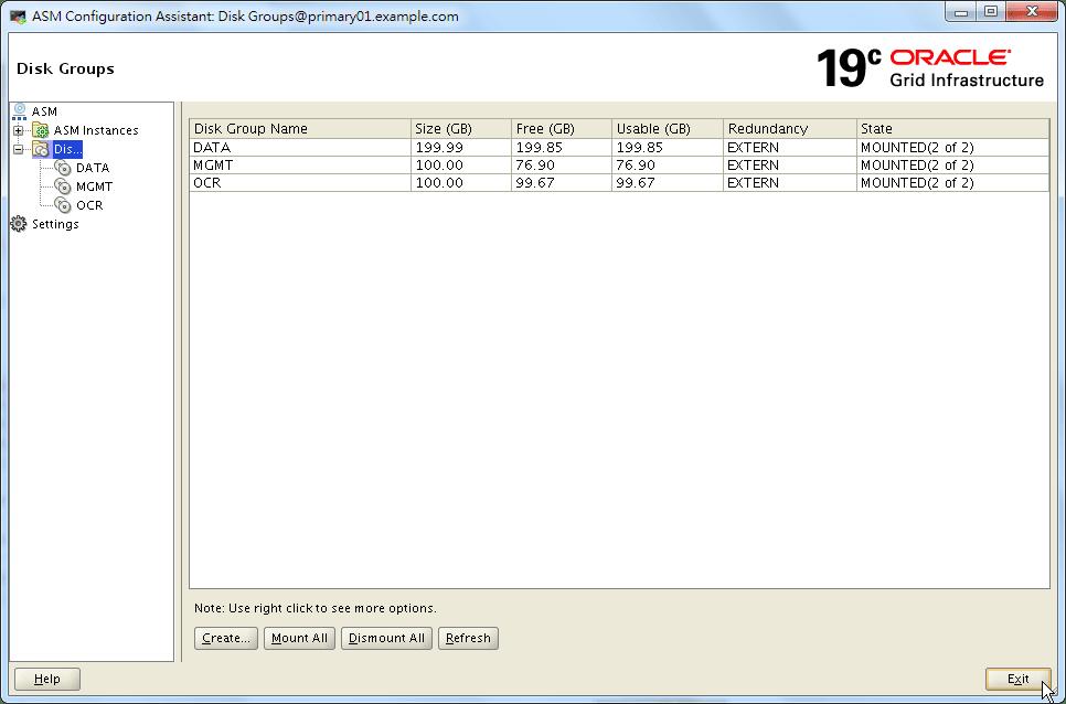Oracle 19c ASMCA - Create a Disk Group - 05