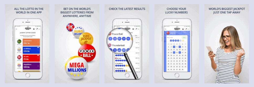 Jackpot.com mobile app