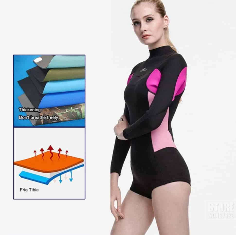AliExpress Wetsuit for Women Men Onepiece Kite Surfing Snorkeling Swimwear Swimsuit Scuba Diving One-Pieces Suit Beach SBART 2mm 6 fabric