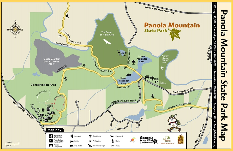 Panola Mt State Park Map