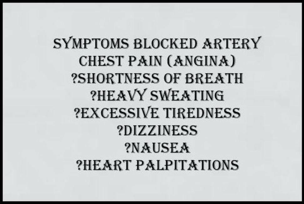 symptoms blocked heart artery