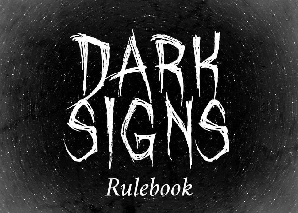 Dark Signs rulebook title