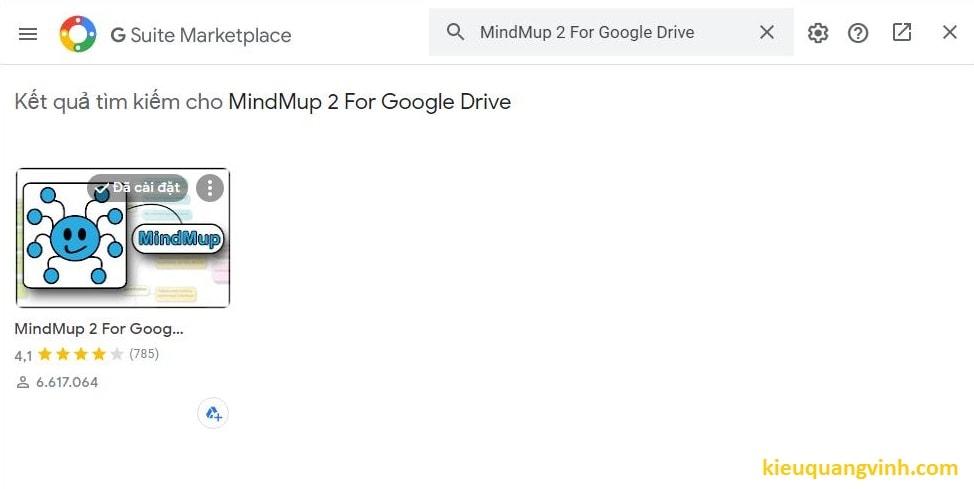 Cài tiện ích vẽ mindmap cho google drive bước 2