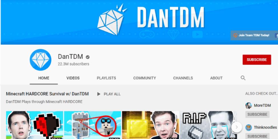 DanTDM Youtube