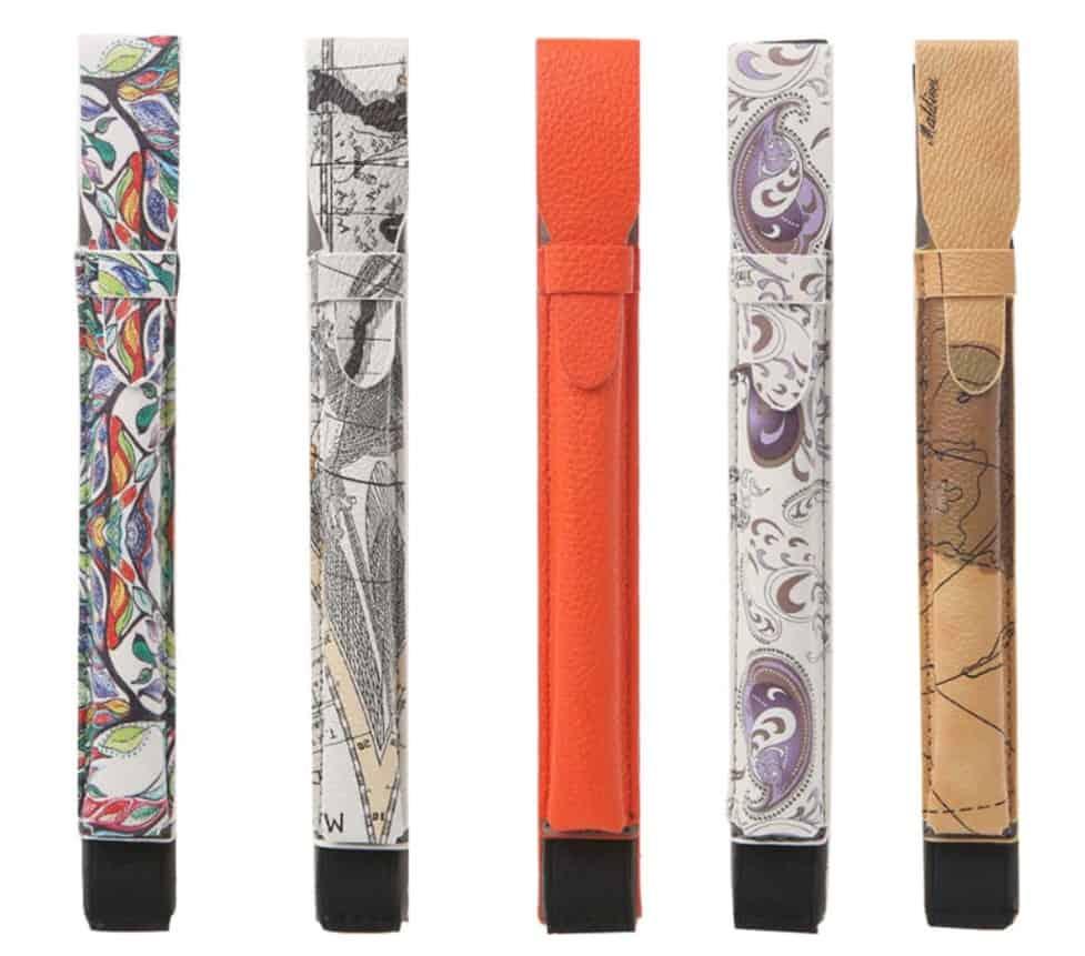 Fake Smart pen apple pencil replica Cheap alternative AliExpress Ipad pro Stylus Leather Pouch 5 Designs