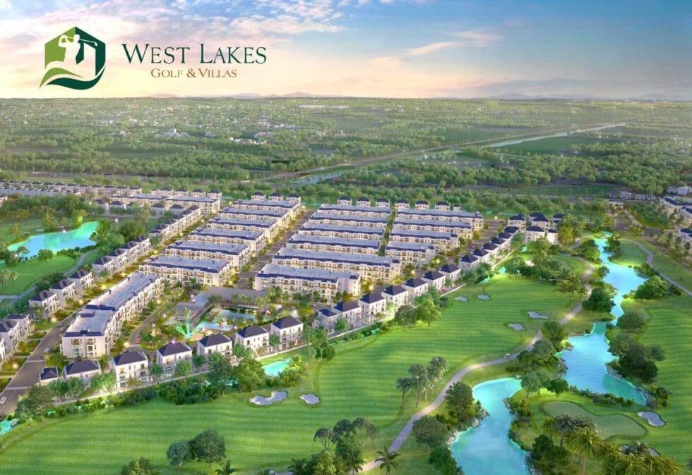 Tổng thể dự án West Lakes Golf & Villas khi hoàn thành