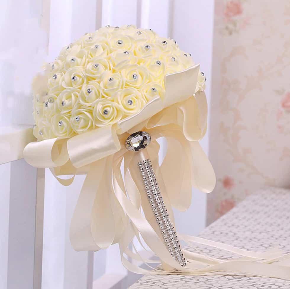 AliExpress Cheap Designer Wedding Dresses Bridal Gown Handmade Bouquet 1
