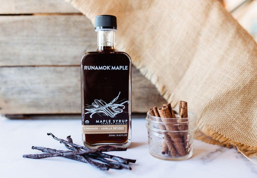 Cinnamon + Vanilla Infused Maple Syrup by Runamok Maple