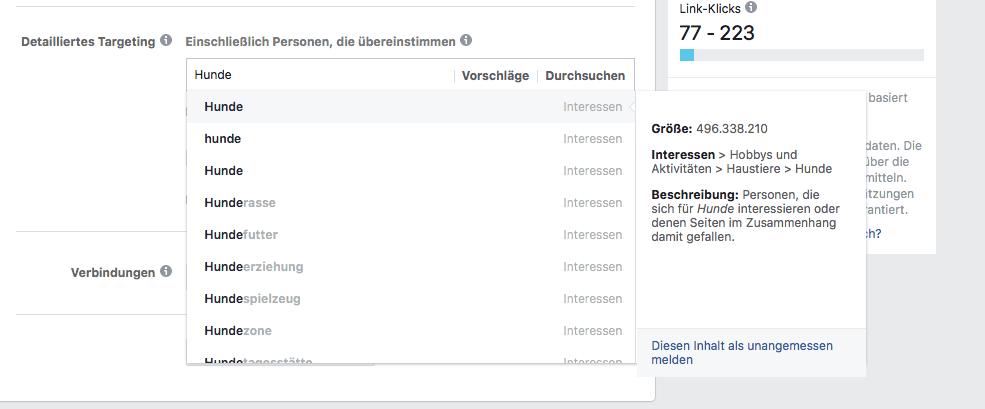 Facebook Veranstaltung Targeting2
