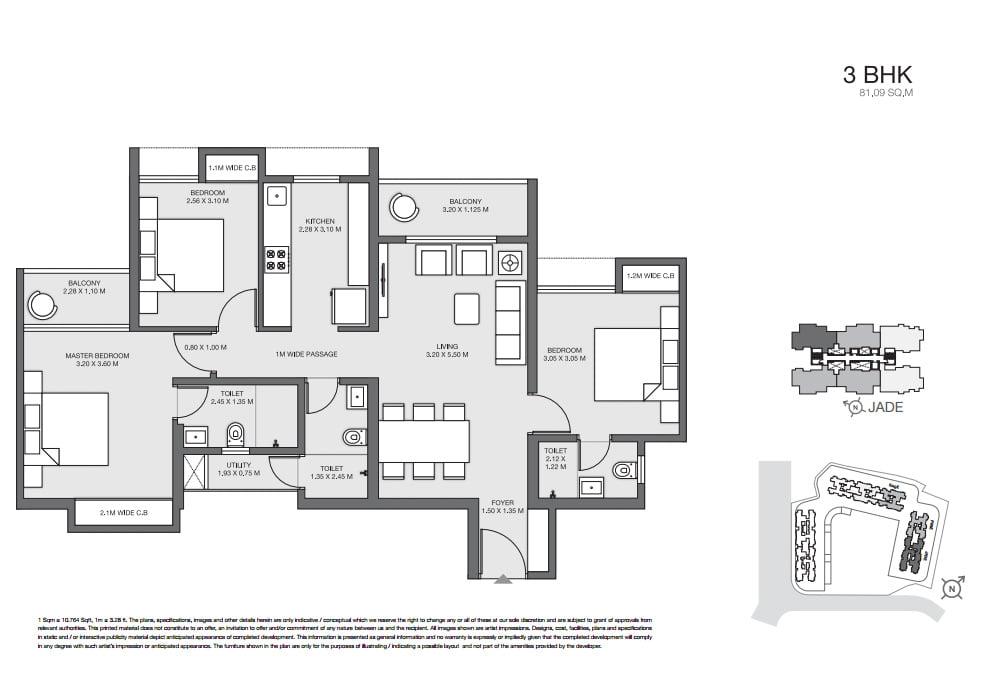 Godrej Thane 3bedroom floorplan 09958959555