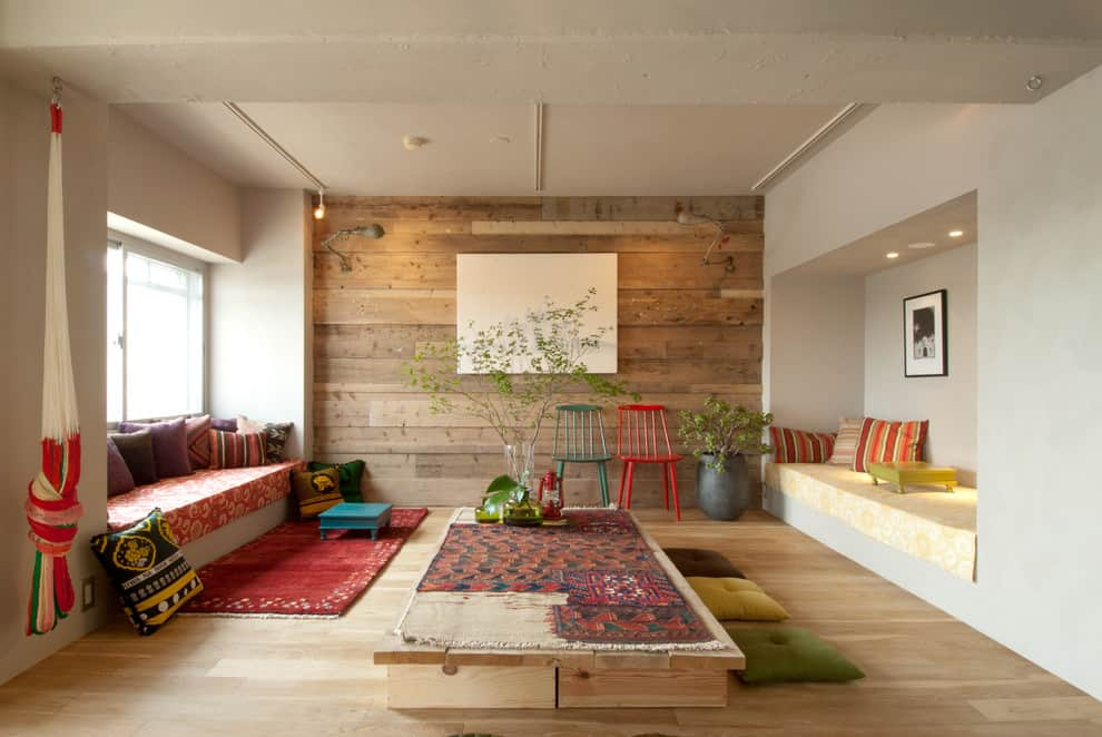 japanese eclectic living room