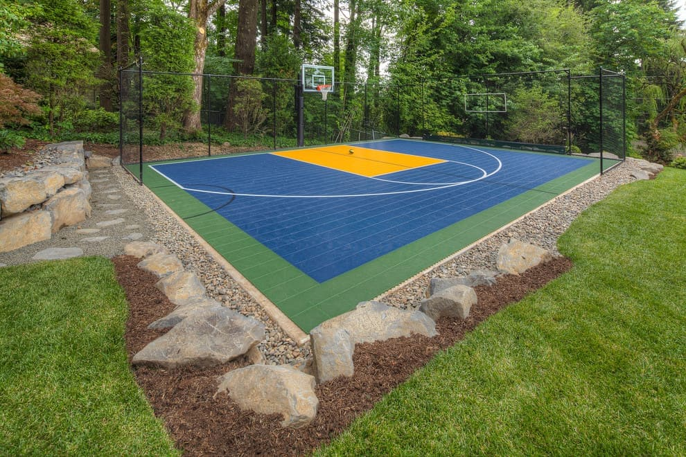 Backyard Basketball Court Ideas - Tips To Make Your Own Basketball Court [Stencils, Layouts, & Dimensions]