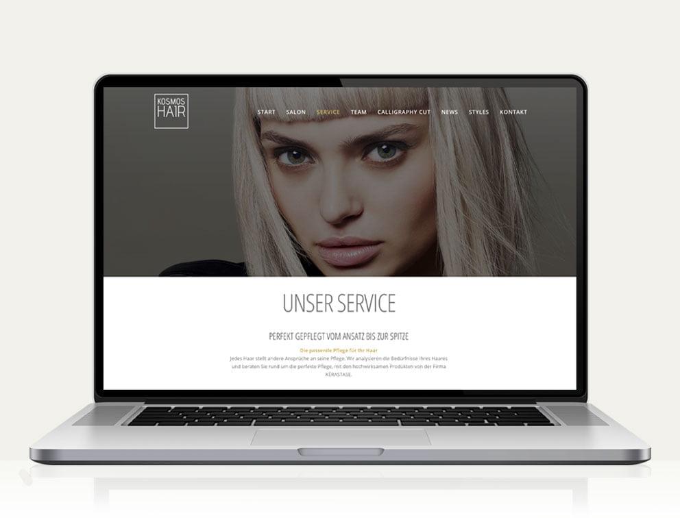 Responsive Website für Kosmoshair Friseursalon Köln